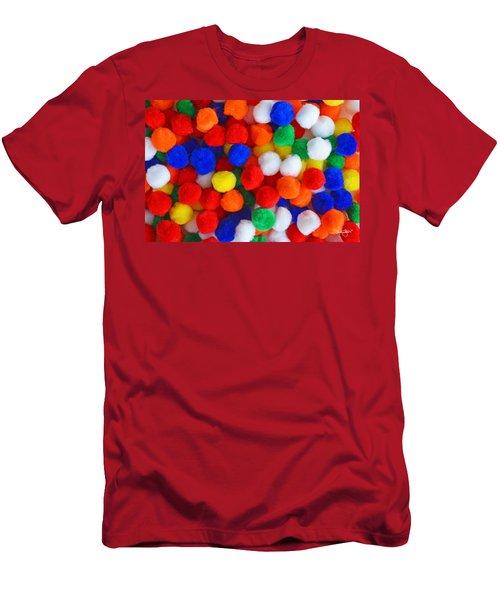 Pom Poms Men's T-Shirt (Athletic Fit)