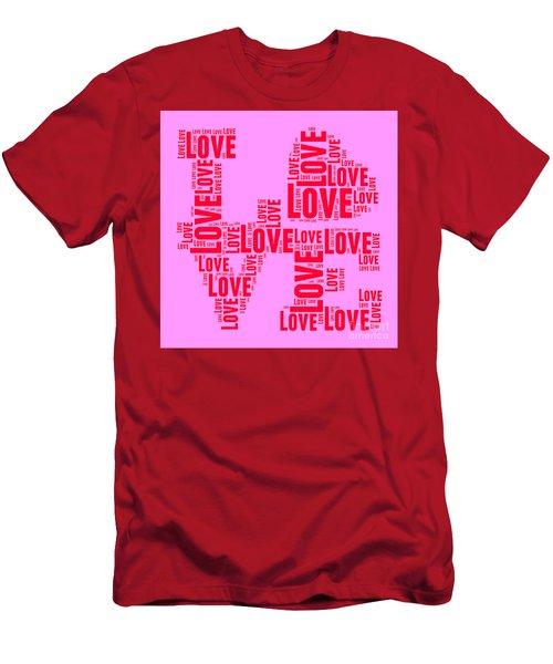 Pop Love 4 Men's T-Shirt (Athletic Fit)