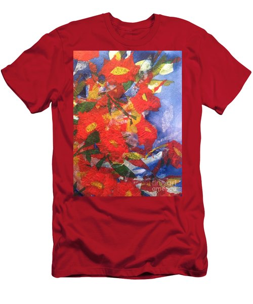 Poppies Gone Wild Men's T-Shirt (Athletic Fit)