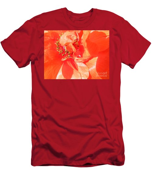 Men's T-Shirt (Slim Fit) featuring the photograph Poppy Palette In Red by Brian Boyle