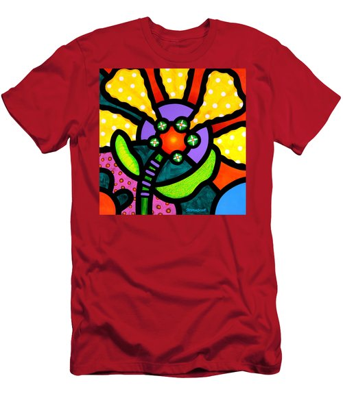 Prairie Sunflower Men's T-Shirt (Athletic Fit)