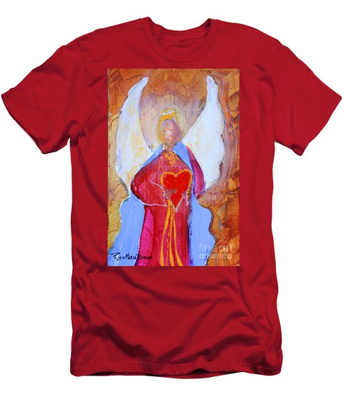 Precious Heart Angel Men's T-Shirt (Athletic Fit)