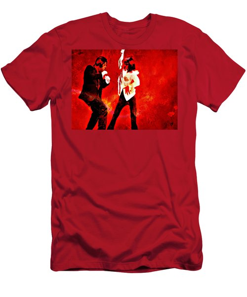 Men's T-Shirt (Slim Fit) featuring the painting Pulp Fiction Dance 2 by Brian Reaves