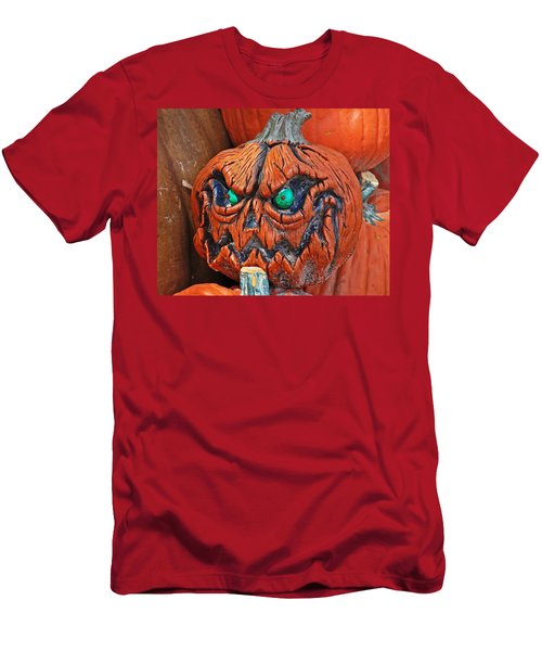 Pumpkin Face Men's T-Shirt (Athletic Fit)