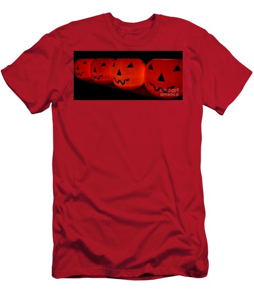 Pumpkins Lined Up Men's T-Shirt (Athletic Fit)