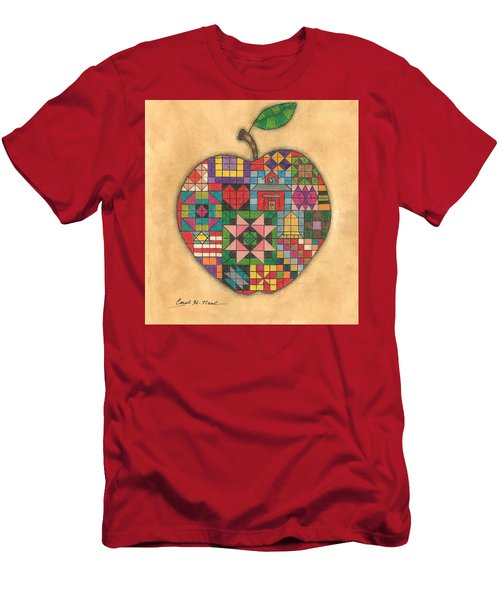 Quilted Apple Men's T-Shirt (Athletic Fit)