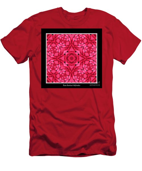 Men's T-Shirt (Slim Fit) featuring the photograph Ranunculus Flower Warp by Rose Santuci-Sofranko
