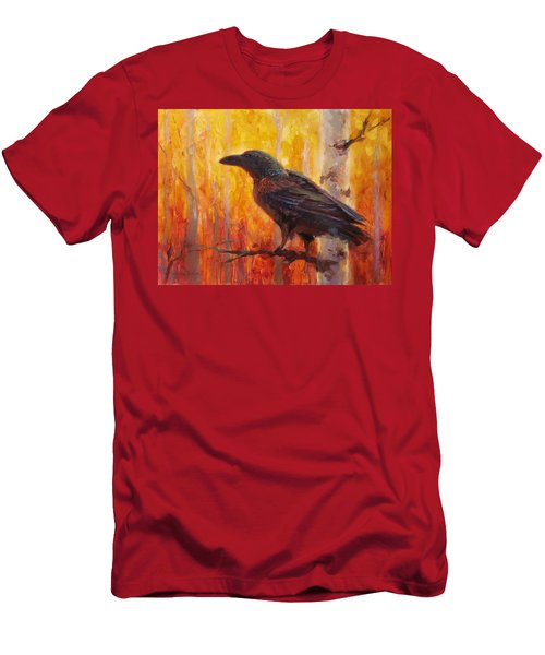 Raven Glow Autumn Forest Of Golden Leaves Men's T-Shirt (Athletic Fit)