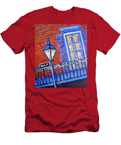 Ready For Mardi Gras Men's T-Shirt (Slim Fit) by Suzanne Theis