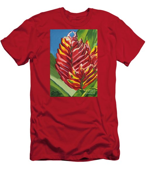 Red Bromeliad Men's T-Shirt (Athletic Fit)
