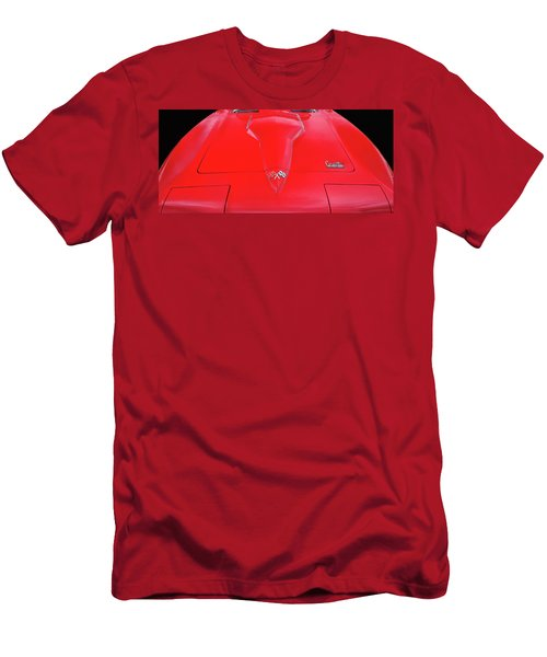 Men's T-Shirt (Slim Fit) featuring the photograph Red Corvette by Dave Mills