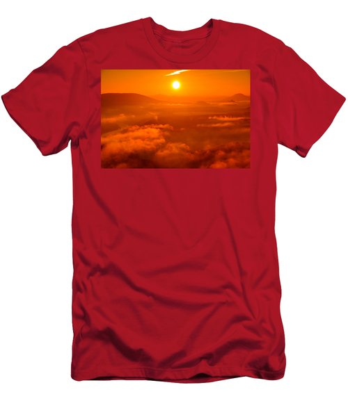 Red Dawn On The Lilienstein Men's T-Shirt (Athletic Fit)