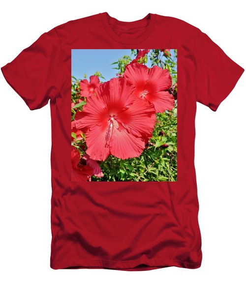 Red Hibiscus Men's T-Shirt (Athletic Fit)