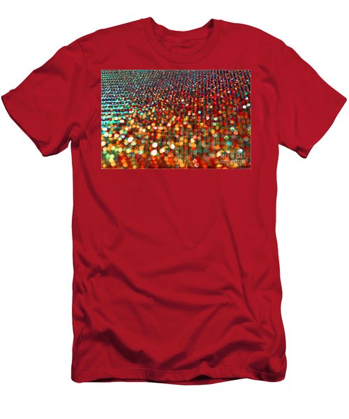 Red Hot Bokeh Bling Men's T-Shirt (Athletic Fit)