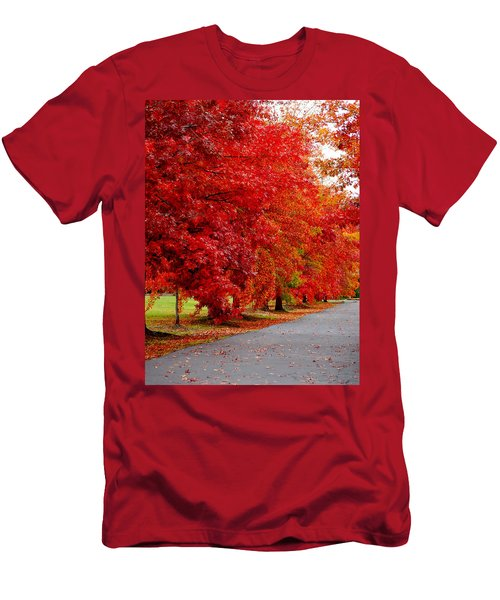 Red Leaf Road Men's T-Shirt (Athletic Fit)