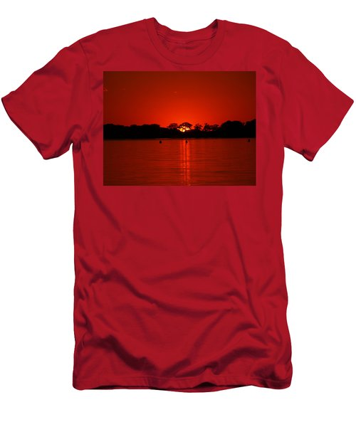 Men's T-Shirt (Athletic Fit) featuring the photograph Red by James Peterson