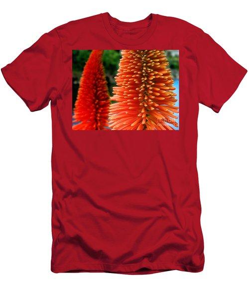 Red-orange Flower Of Eremurus Ruiter-hybride Men's T-Shirt (Athletic Fit)