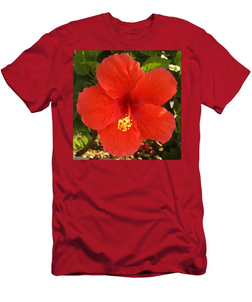 Red Pansy Men's T-Shirt (Athletic Fit)