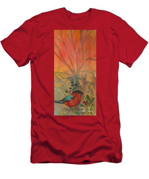 Red Peace Bird Men's T-Shirt (Athletic Fit)