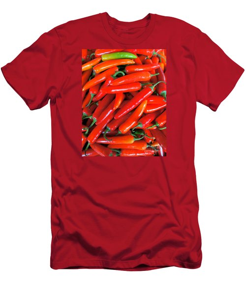 Red Peppers Men's T-Shirt (Athletic Fit)