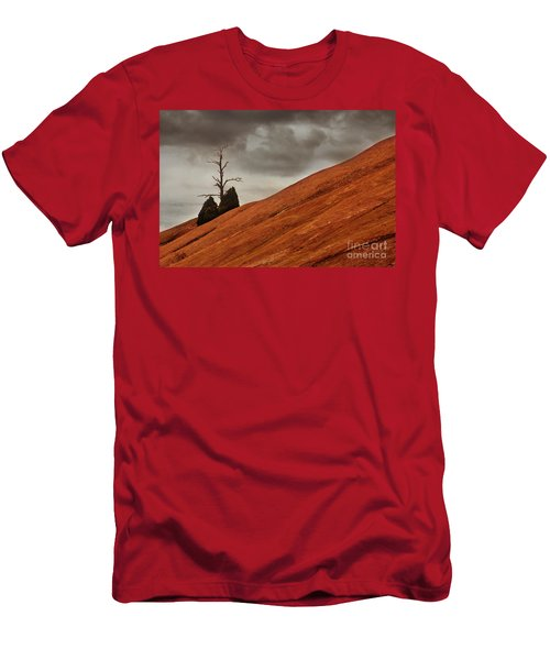 Men's T-Shirt (Slim Fit) featuring the photograph Red Rock by Dana DiPasquale