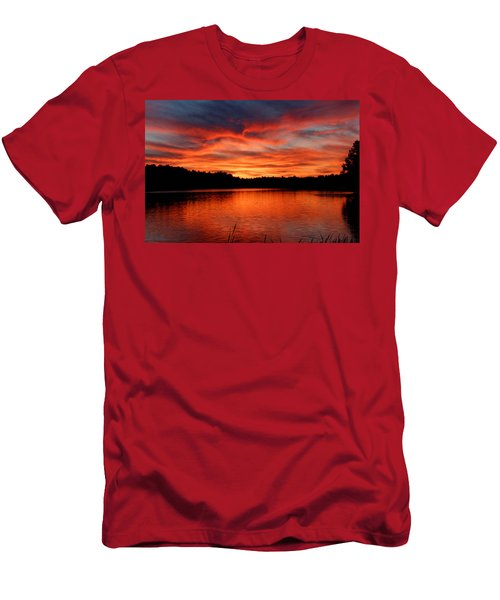 Red Sunset Reflections Men's T-Shirt (Athletic Fit)