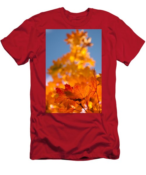 Red Tipped Gold Men's T-Shirt (Athletic Fit)