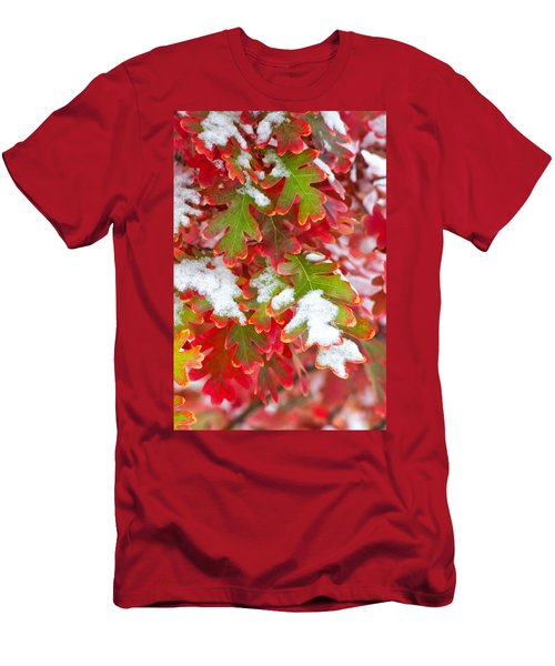 Red White And Green Men's T-Shirt (Athletic Fit)