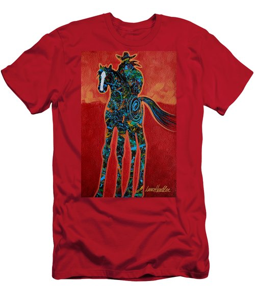 Red With Rope Men's T-Shirt (Athletic Fit)