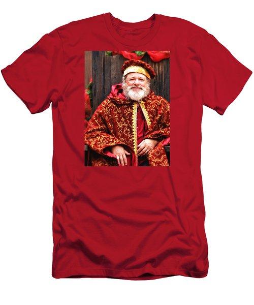 Renaissance St Nicholas Men's T-Shirt (Slim Fit) by Nadalyn Larsen