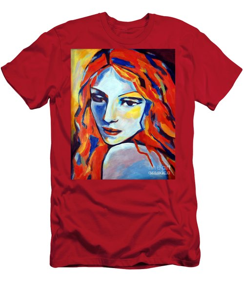Men's T-Shirt (Slim Fit) featuring the painting Reverie by Helena Wierzbicki