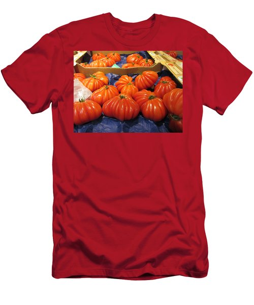 Ribbed Tomatoes Men's T-Shirt (Slim Fit) by Pema Hou