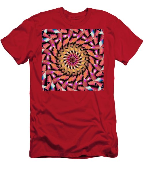 Rippled Source Kaleidoscope Men's T-Shirt (Athletic Fit)