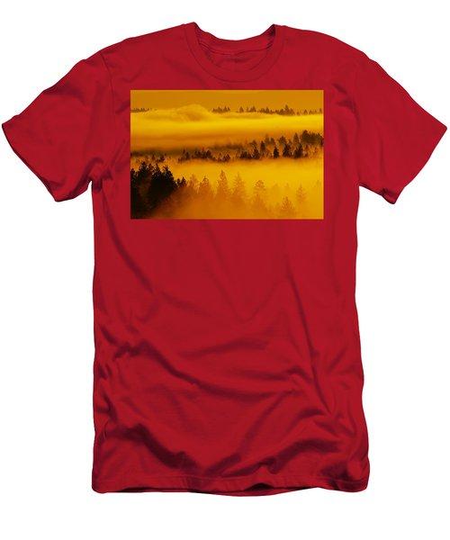 River Fog Rising Men's T-Shirt (Athletic Fit)