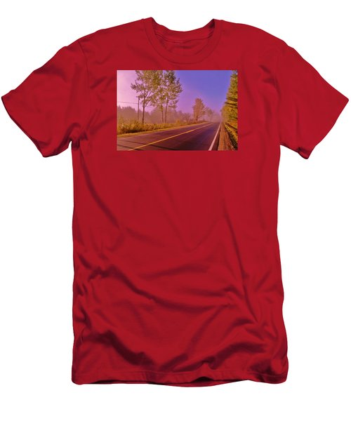 Men's T-Shirt (Slim Fit) featuring the photograph Road To... by Daniel Thompson