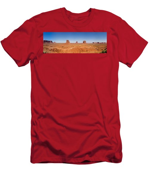 Rock Formations In A Desert, Monument Men's T-Shirt (Athletic Fit)