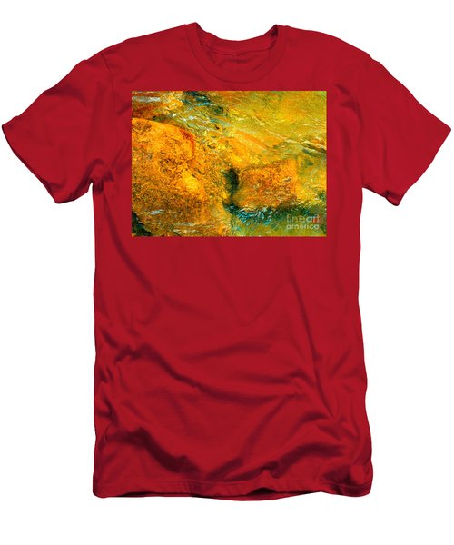 Rocks Under The Stream By Christopher Shellhammer Men's T-Shirt (Athletic Fit)