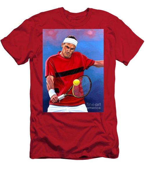 Roger Federer The Swiss Maestro Men's T-Shirt (Athletic Fit)