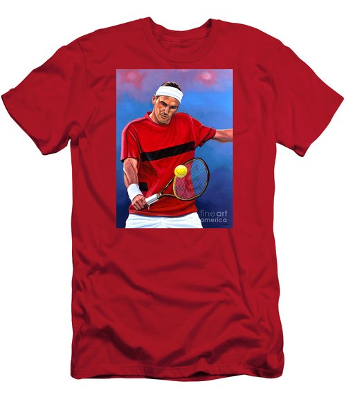 Roger Federer The Swiss Maestro Men's T-Shirt (Athletic Fit)