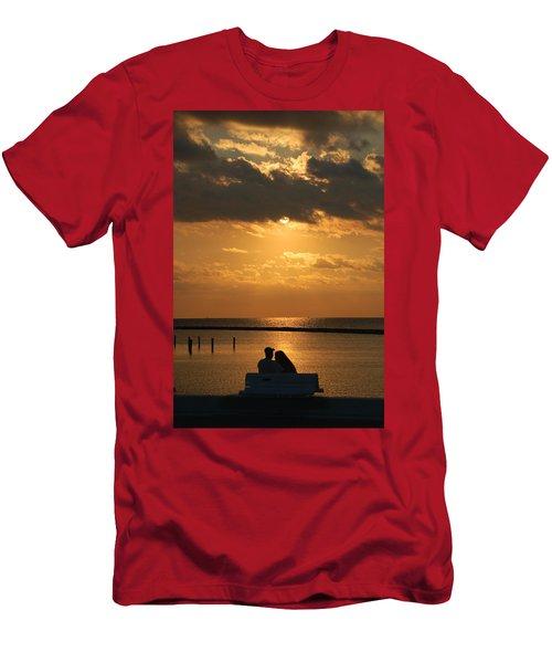 Romantic Sunrise Men's T-Shirt (Slim Fit) by Leticia Latocki