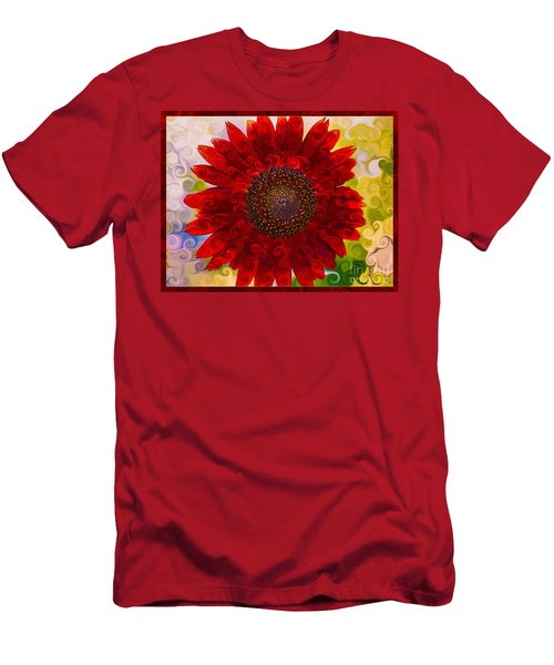 Royal Red Sunflower Men's T-Shirt (Athletic Fit)