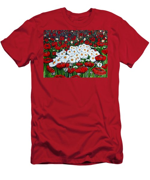Rubies And Pearls Men's T-Shirt (Slim Fit) by Jackie Carpenter