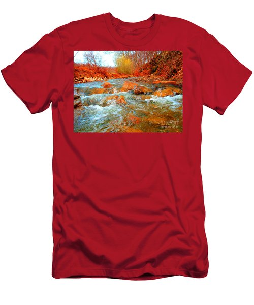 Running Creek 2 By Christopher Shellhammer Men's T-Shirt (Athletic Fit)