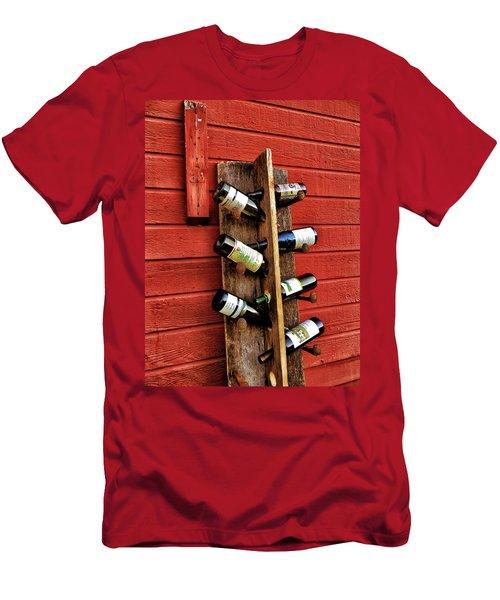Rustic Wine Rack Men's T-Shirt (Athletic Fit)