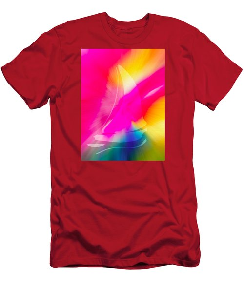 Men's T-Shirt (Slim Fit) featuring the digital art Sailing The Cosmos by Frank Bright