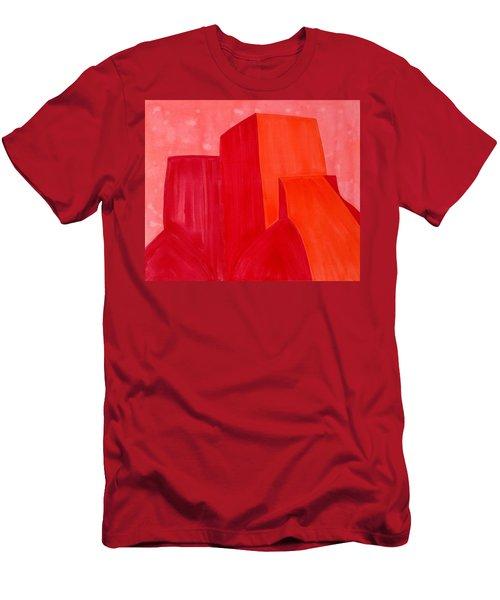 Saint Francis Church Original Painting Men's T-Shirt (Athletic Fit)