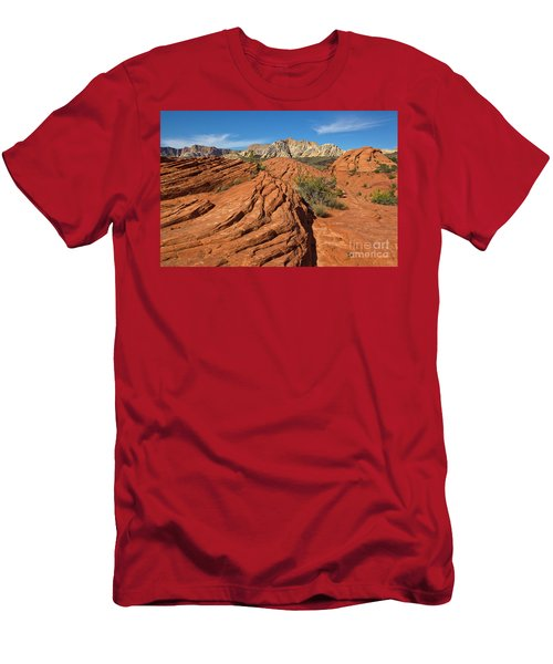Sandstone Formations Snow Canyon Men's T-Shirt (Athletic Fit)
