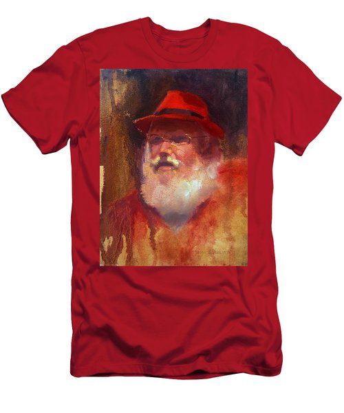 Santa Men's T-Shirt (Slim Fit) by Karen Whitworth