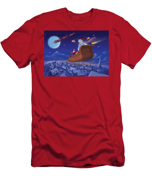 Santa's Helper Men's T-Shirt (Slim Fit) by Michael Humphries