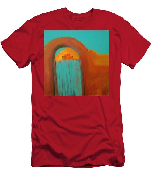 Men's T-Shirt (Slim Fit) featuring the painting Sante Fe by Keith Thue